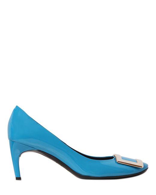 Roger Vivier   Blue 65mm Belle De Nuit Patent Leather Pumps   Lyst