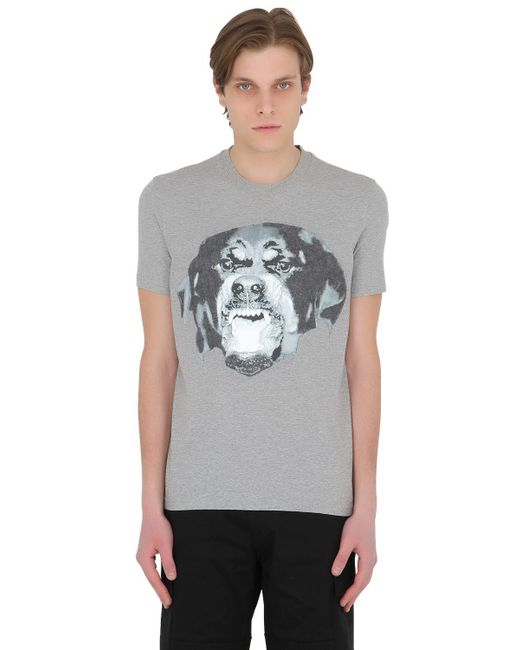 Givenchy   Gray Cuban Needle Punch Jersey T-shirt for Men   Lyst