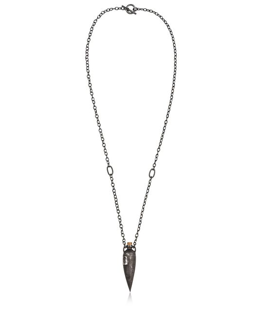 Henson | Black Skinny Vessel With Hallmarks Necklace for Men | Lyst
