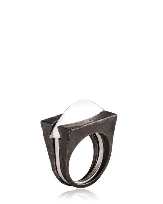 Henson   Metallic Blade Ring Set for Men   Lyst