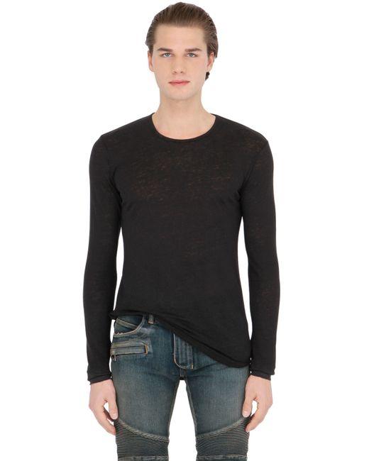 Balmain   Black T-shirt for Men   Lyst
