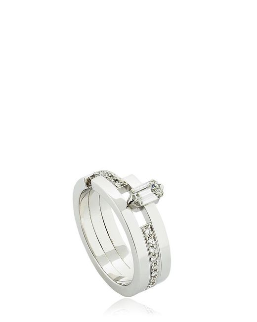 Dauphin   Metallic Disruptive Geometric Ring for Men   Lyst