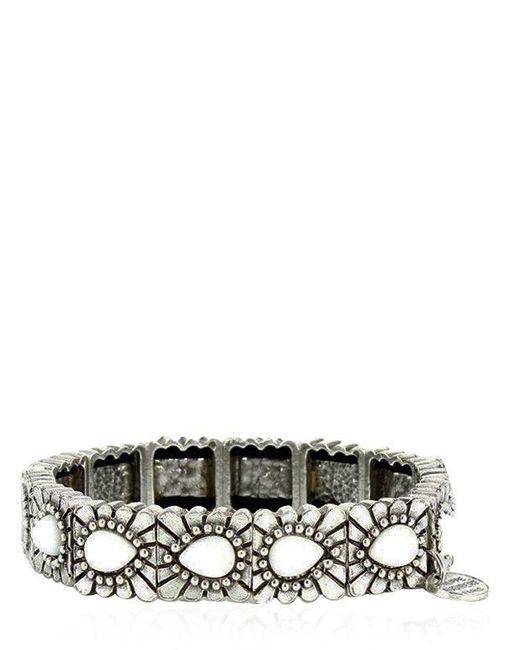 Philippe Audibert | Metallic Tanana Agate Stretch Bracelet | Lyst