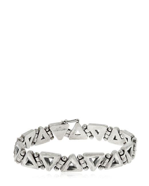 Northskull | Metallic Trigonum Chain Sterling Silver Bracelet | Lyst