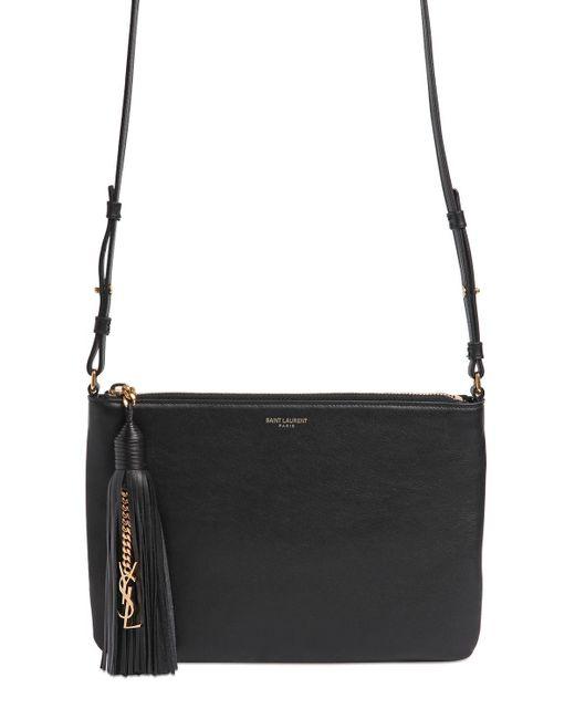 Saint Laurent   Black Teen Monogram Leather Shoulder Bag   Lyst