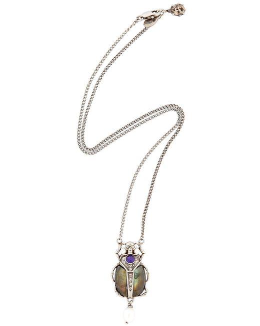 Alexander McQueen   Metallic Skull Pendant Necklace   Lyst