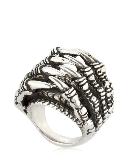 KD2024 | Metallic Ring Claw Tunnel Ring | Lyst