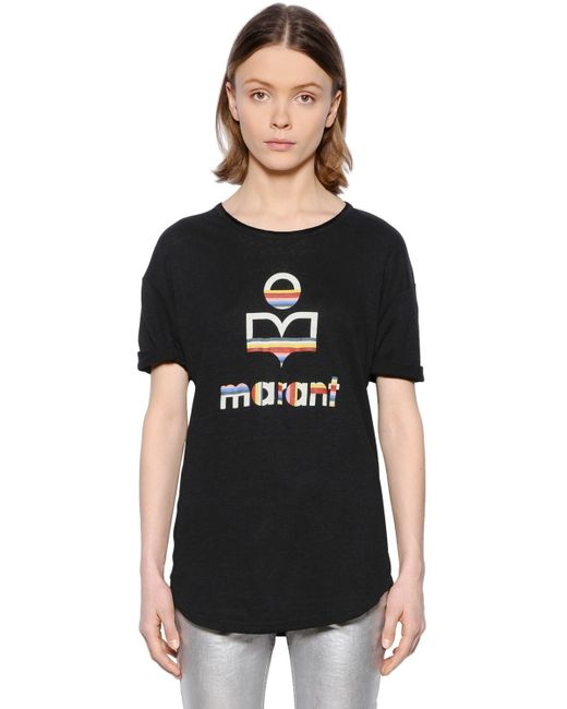 Toile Isabel Marant Rainbow Logo Printed Jersey T Shirt