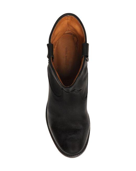 isabel marant etoile 70mm cluster black leather boots in black lyst. Black Bedroom Furniture Sets. Home Design Ideas
