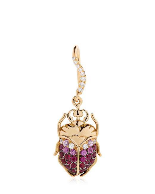 Aurelie Bidermann   Metallic Beetle Gold Mono Earring   Lyst