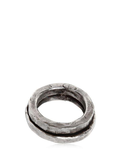 Emanuele Bicocchi | Metallic Double Silver Ring for Men | Lyst