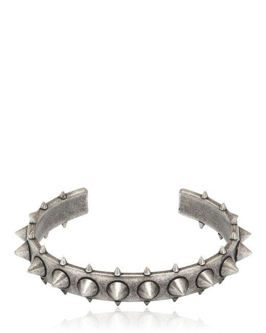 Northskull   Metallic Egun Spiked Silver Plated Bracelet for Men   Lyst