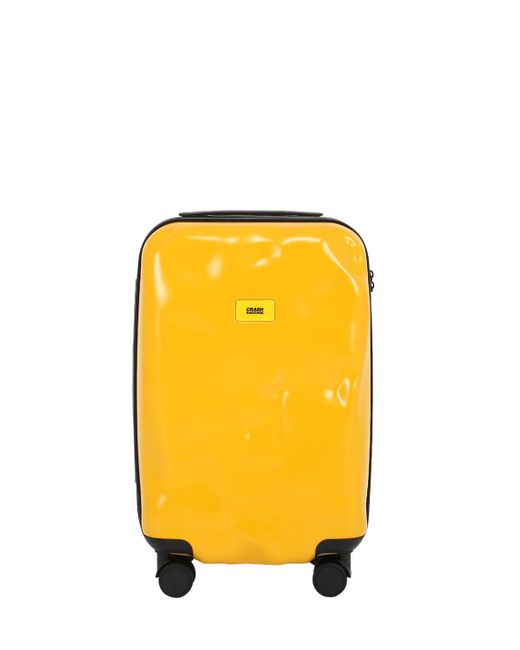 Crash Baggage | Yellow 40l 4-wheel Spinner Carry On Trolley | Lyst