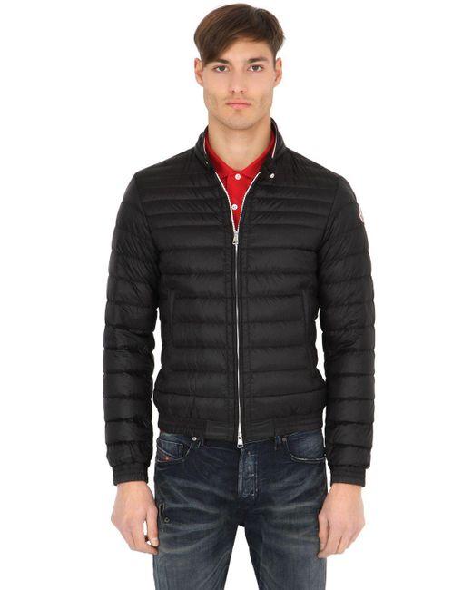 Moncler | Black Garin Lightweight Nylon Down Jacket for Men | Lyst