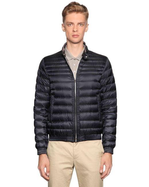 Moncler | Blue Garin Lightweight Nylon Down Jacket for Men | Lyst