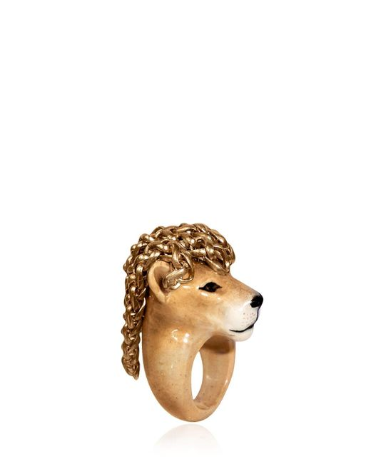 Nach | Metallic Lion Ring | Lyst
