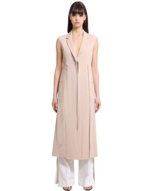 Calvin Klein   Natural Stretch Cady Long Vest   Lyst