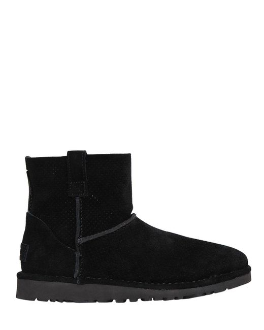 Ugg | Black Classic Mini Perforated Suede Boots | Lyst