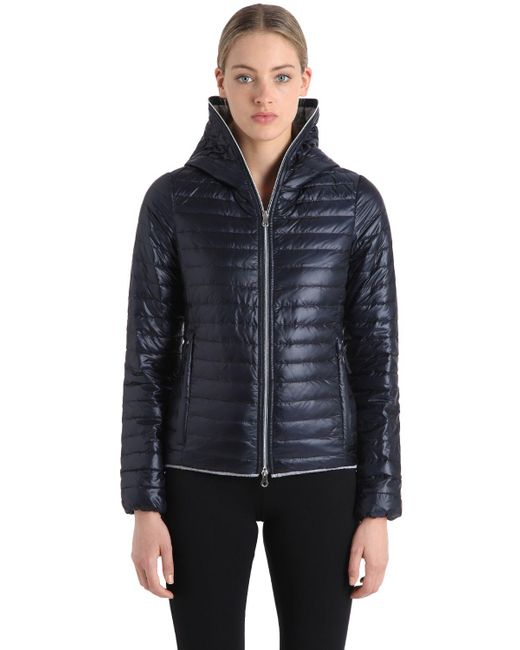 Duvetica | Blue Eeria Quilted Ripstop Nylon Down Jacket | Lyst