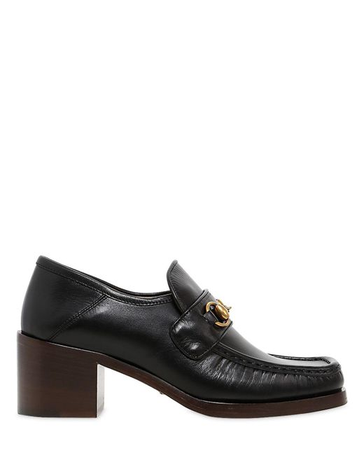Gucci   Black 55mm Vegas Leather Loafers   Lyst