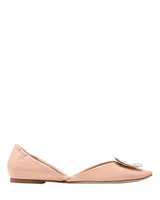 Roger Vivier | Natural 10mm Chips Patent Leather D'orsay Flats | Lyst