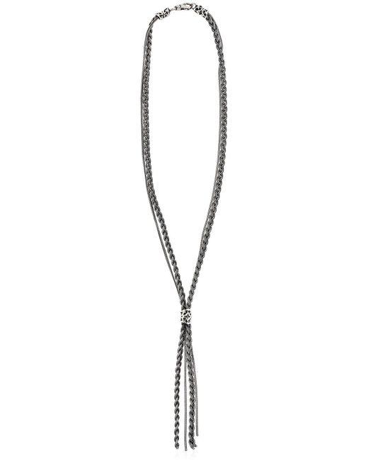 Emanuele Bicocchi | Metallic Braided Chain Sterling Silver Necklace | Lyst