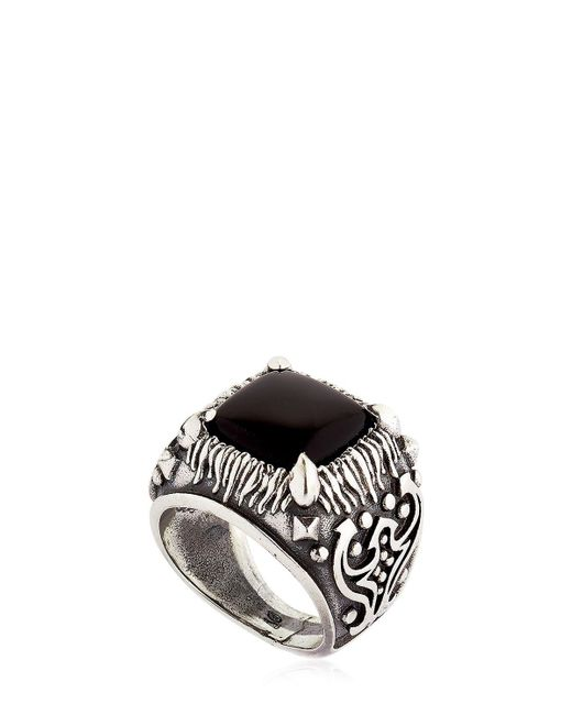 Emanuele Bicocchi | Metallic Onyx & Sterling Silver Square Ring | Lyst