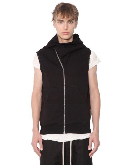 Rick Owens   Black Drkshdw Sleeveless Jersey Sweatshirt for Men   Lyst