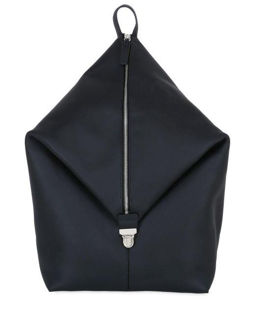 Bonastre - Black Mono Strap Leather Backpack for Men - Lyst