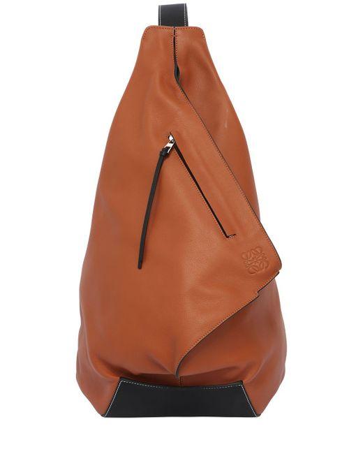 Loewe | Brown Anton Leather Backpack | Lyst