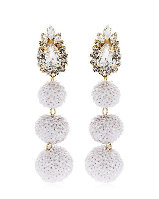 Shourouk | White Disco Earrings | Lyst