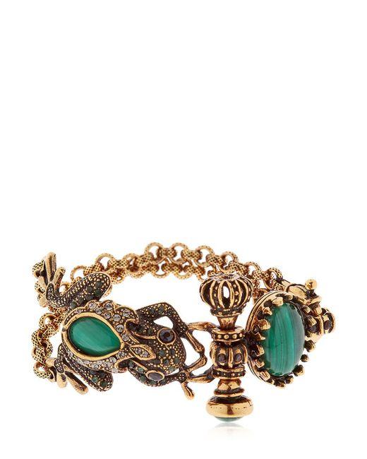 Alcozer & J   Metallic Desire Frog & Crown Bracelet   Lyst