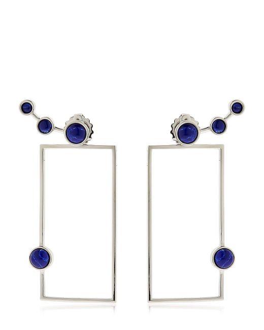 Eshvi | Blue Lava Sodalite Geometric Earrings | Lyst