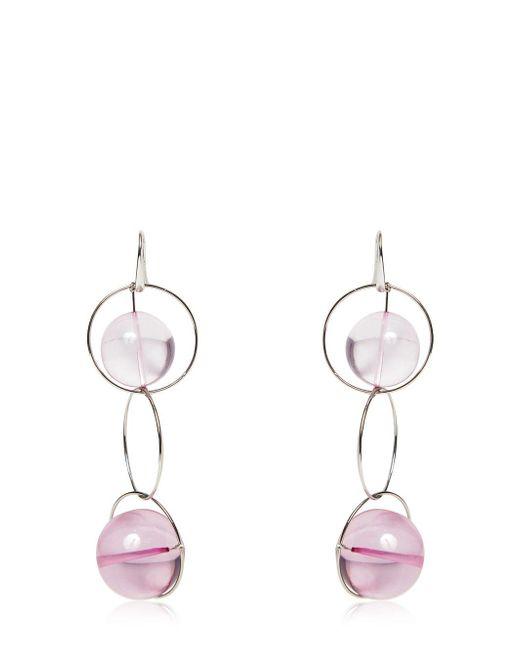 Marni | Pink Multi Spheres Hoop Earrings | Lyst