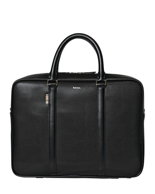 Paul Smith | Black City Embossed Leather Briefcase for Men | Lyst