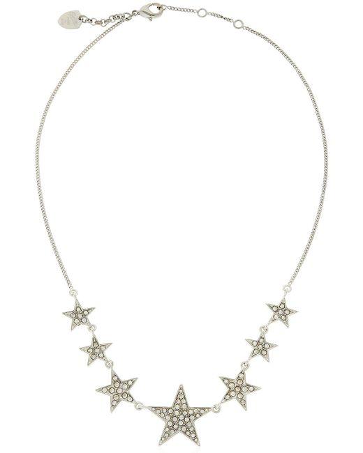 Schield | Metallic Little Stars Crystal Necklace | Lyst