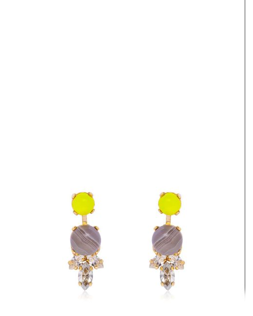 Anton Heunis - Yellow Color Block Stud Earrings - Lyst