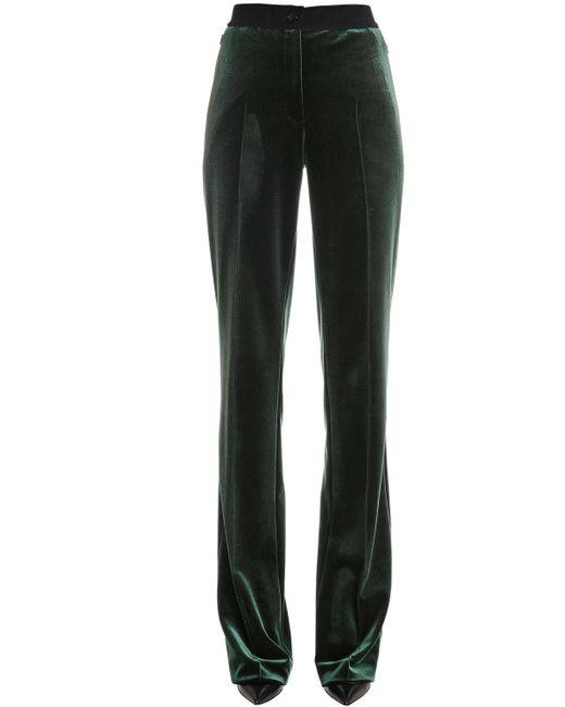 Akris   Green High Waisted Velvet Pants   Lyst