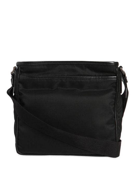 ... Prada - Black Nylon Crossbody Bag W  Leather Trim for Men - Lyst ... 396d2f1941399