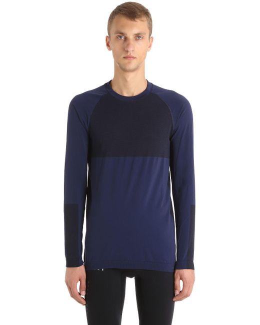 Falke - Blue Performance Base Layer Top for Men - Lyst