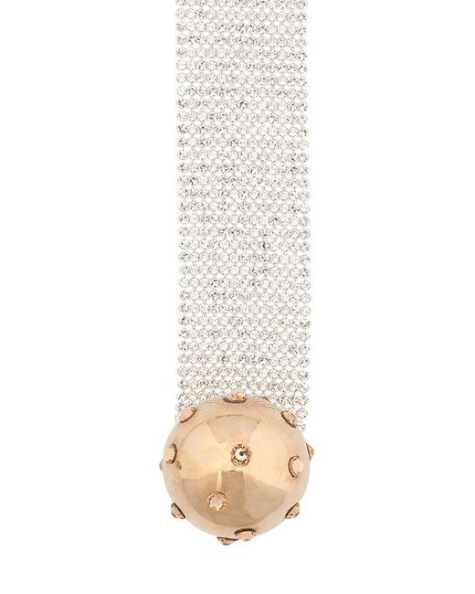 Pluma | Metallic Swarovski Crystals Marty Necklace | Lyst