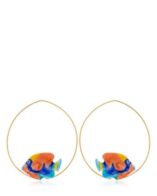 Nach - Metallic Rainbow Box Fish Hoop Earrings - Lyst