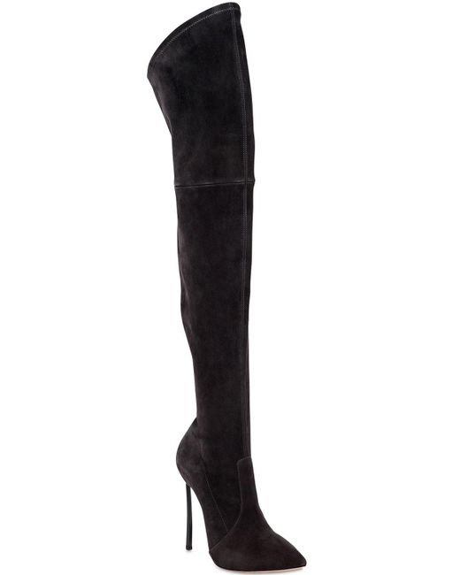 eb716a2c3c0 ... Casadei - Gray Over-the-knee Boots - Lyst ...