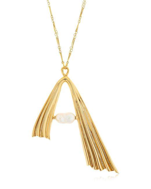 Attico - Metallic Alican Icoz Amore Long Chain Necklace - Lyst