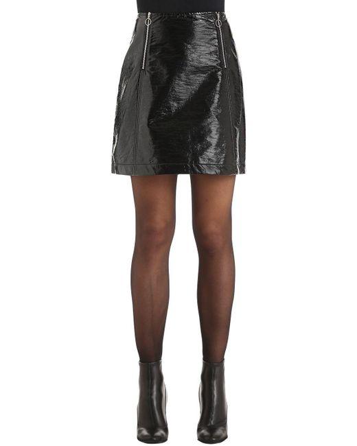 Baum und Pferdgarten | Black Zipped Vinyl Mini Skirt | Lyst