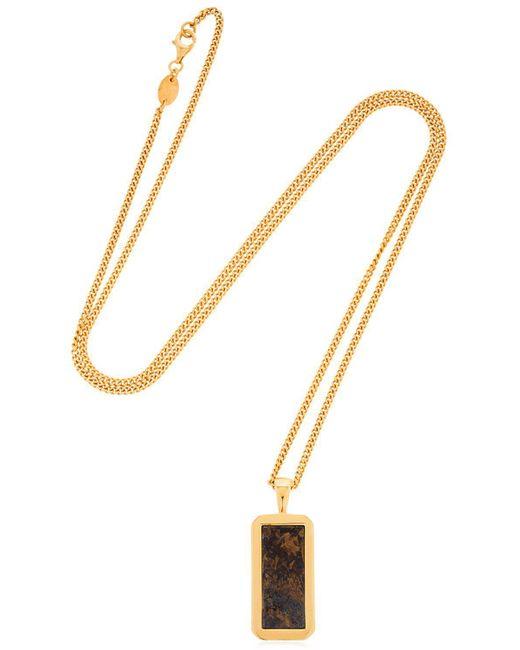Northskull - Metallic Collar Con Colgante De Bronzita for Men - Lyst