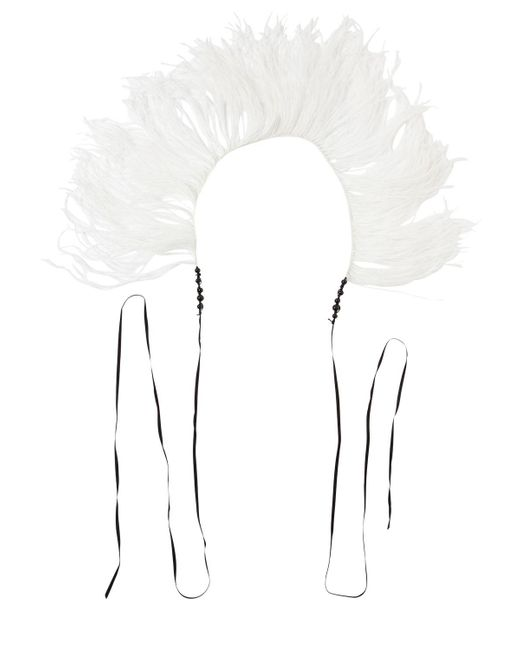 Ann Demeulemeester - White Feather Boa Necklace - Lyst