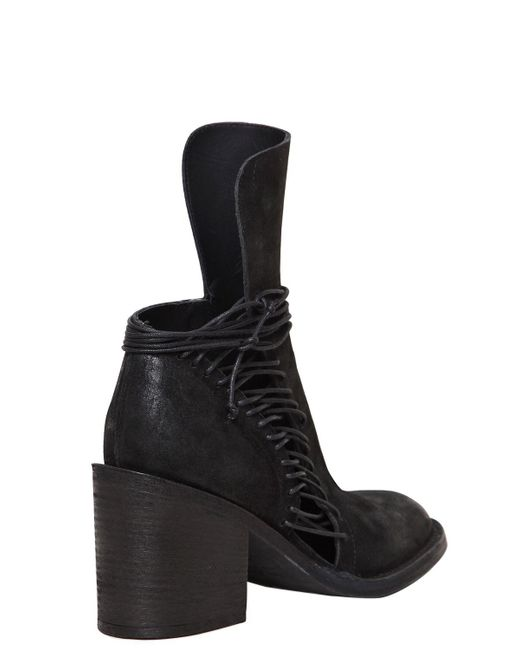 ANN DEMEULEMEESTER 80MM LACE UP LEATHER ANKLE BOOTS jOX4TJ