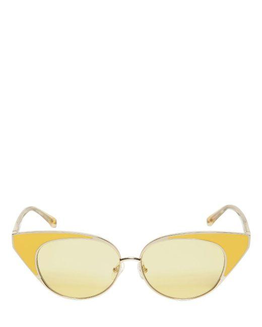 1c2004d6e2d Linda Farrow - Yellow N.21 Cat-eye Sunglasses - Lyst ...