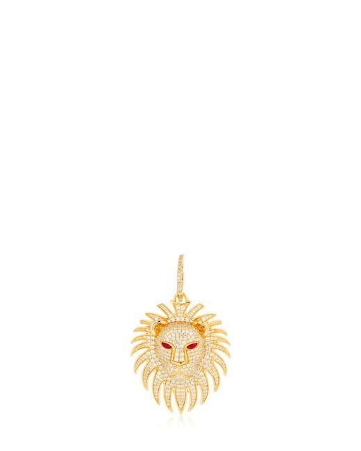 Apm Monaco - Metallic Lion Statement Asymmetric Earrings - Lyst